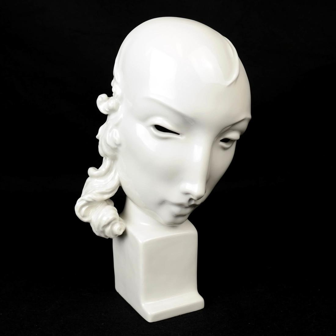 KPM Porcelain Female Face Sculpture