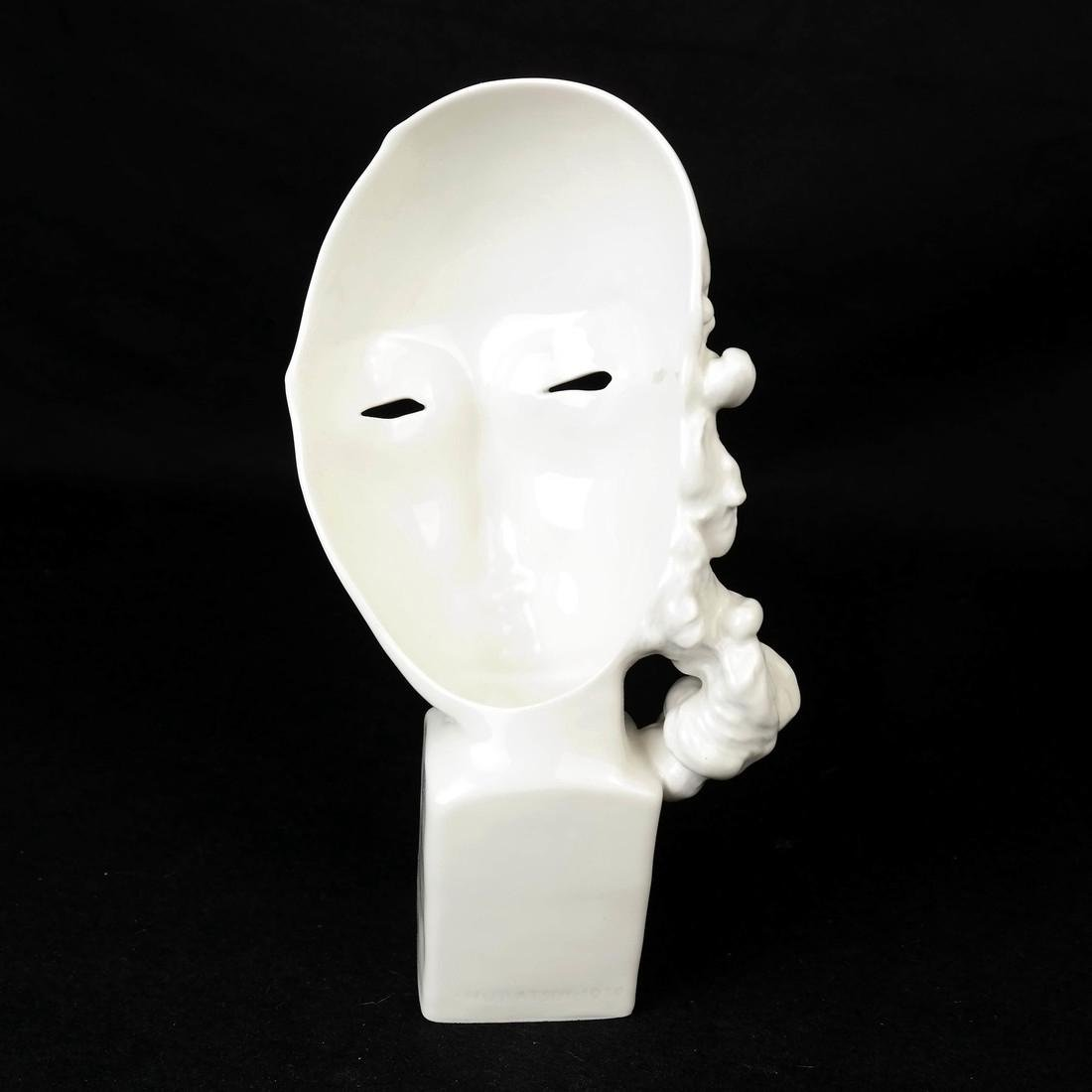 KPM Porcelain Female Face Sculpture - 3