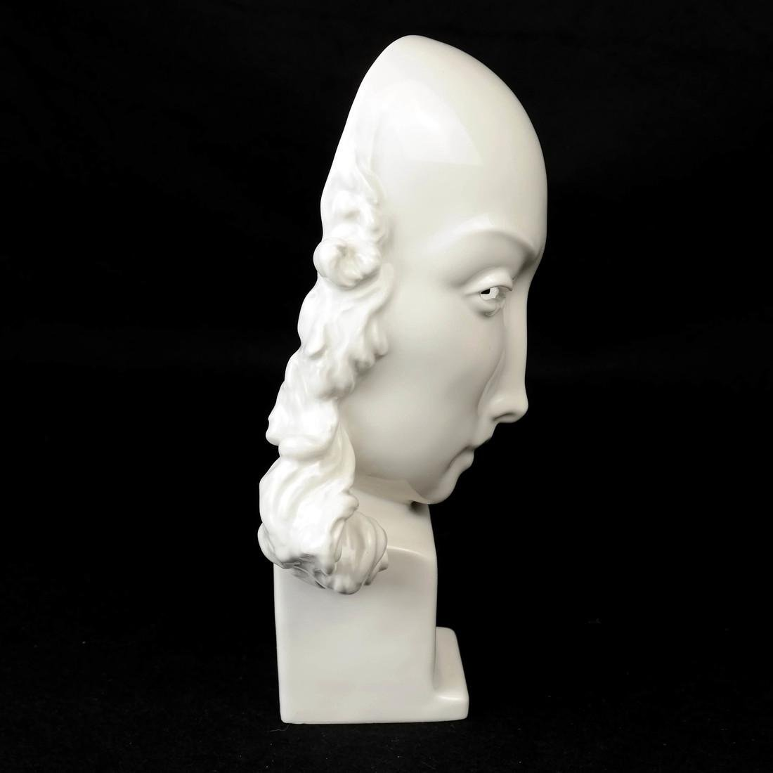 KPM Porcelain Female Face Sculpture - 4