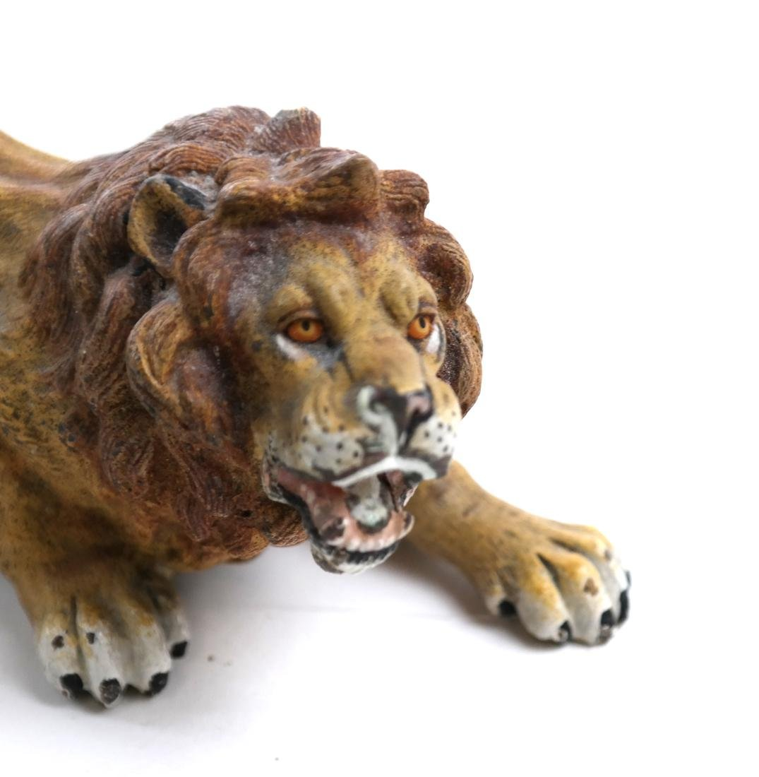 Geshutzt Cold Painted Lion Bronze - 2