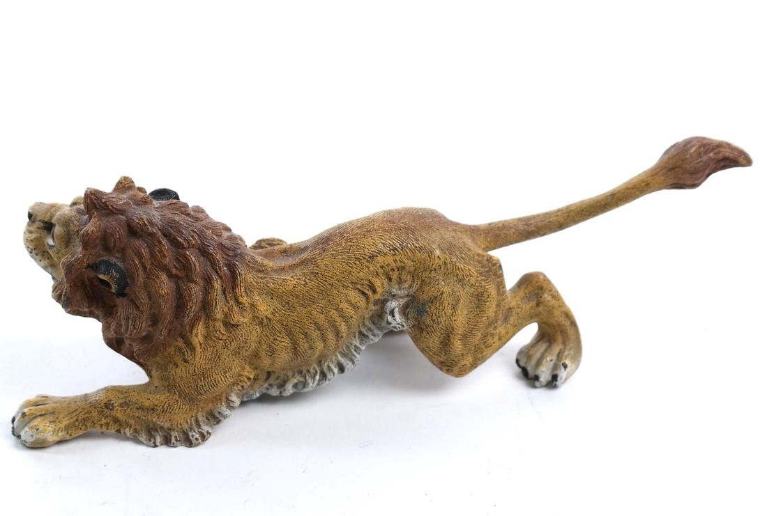Geshutzt Cold Painted Lion Bronze - 5