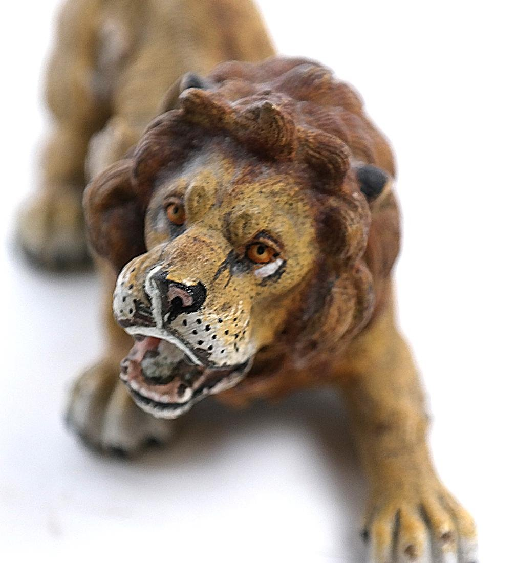 Geshutzt Cold Painted Lion Bronze - 7