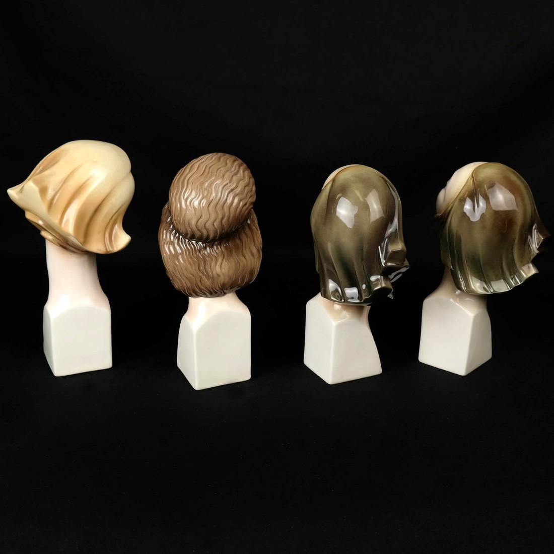 Four Art Deco Style HERTWIG German Female Busts - 3