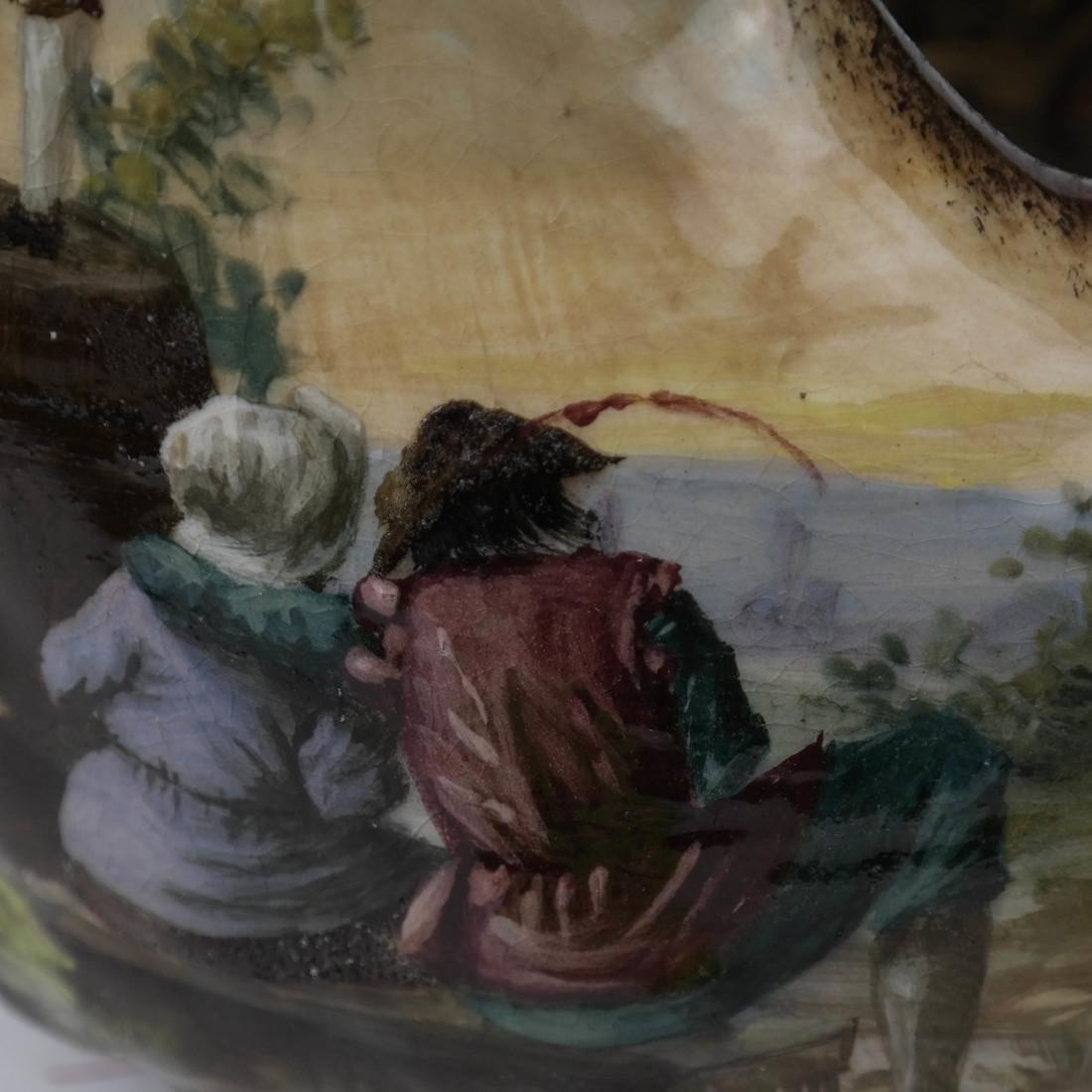 Hand-Painted Scenic Ewer - 7
