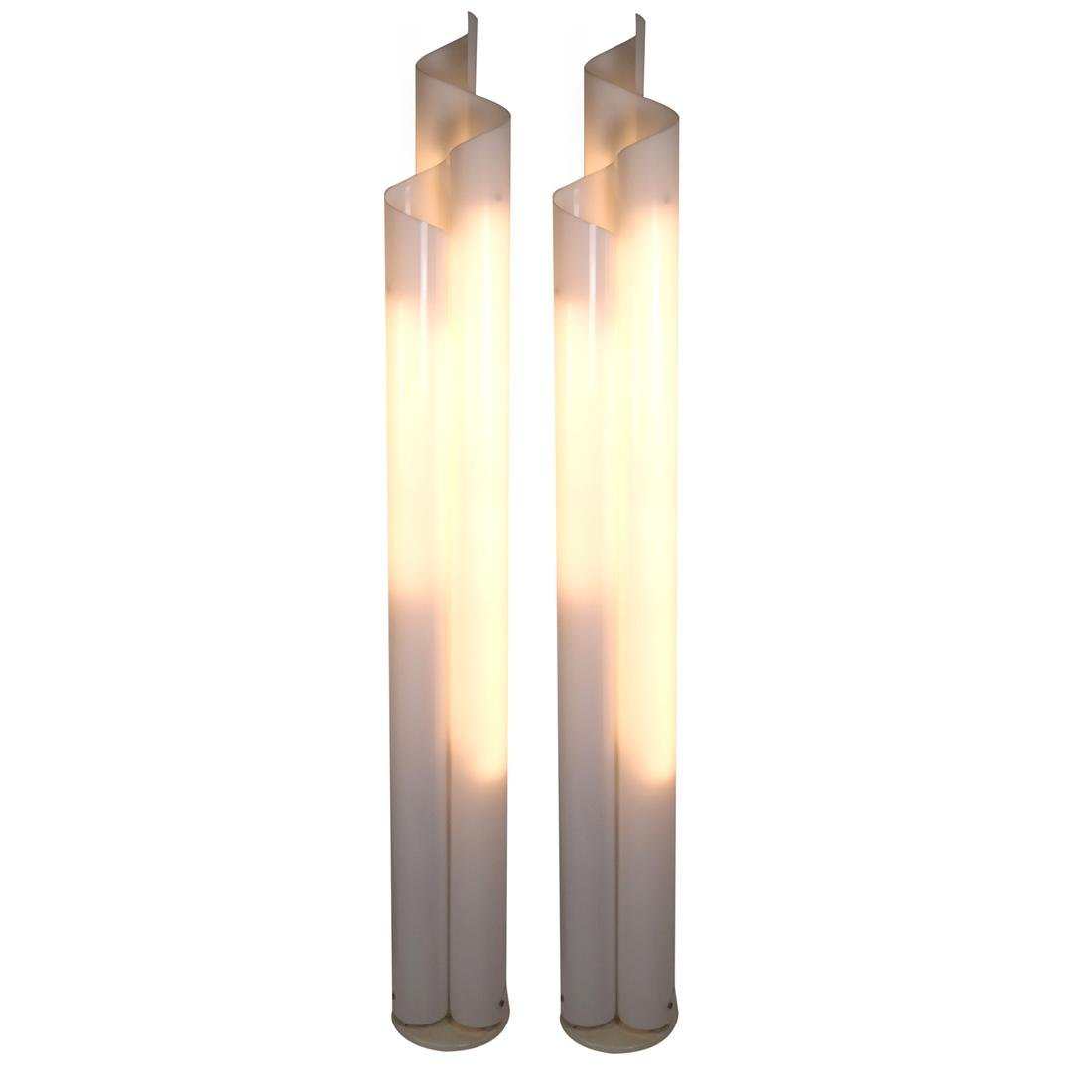 Pair of Modern Acrylic Floor Lamps