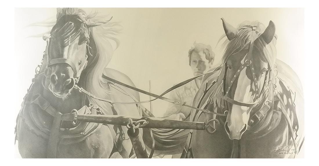 D.A. Dunford Horse Ride Print