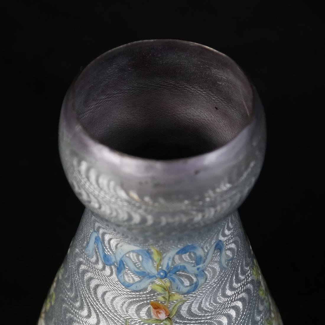 Japanese Cloisonne Ashtray and Enameled Vase on Silver - 4
