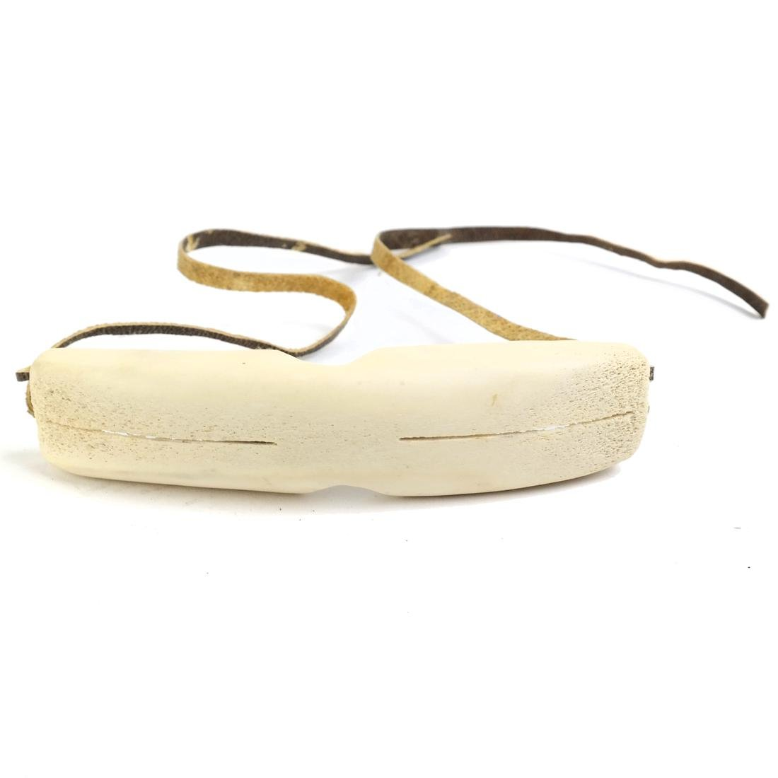 Two Pairs of Carved Inuit Sunglasses - 3
