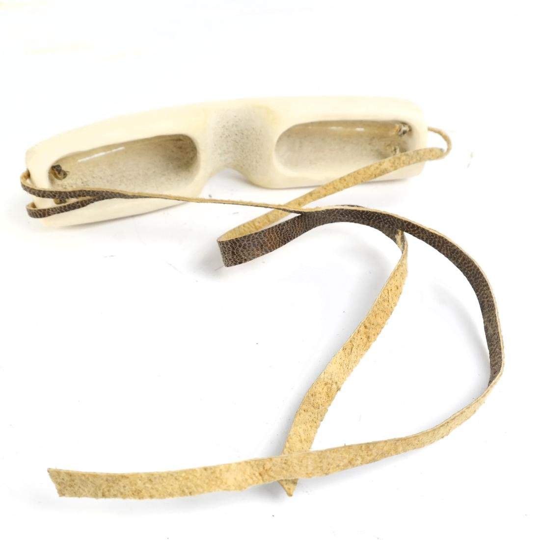 Two Pairs of Carved Inuit Sunglasses - 5