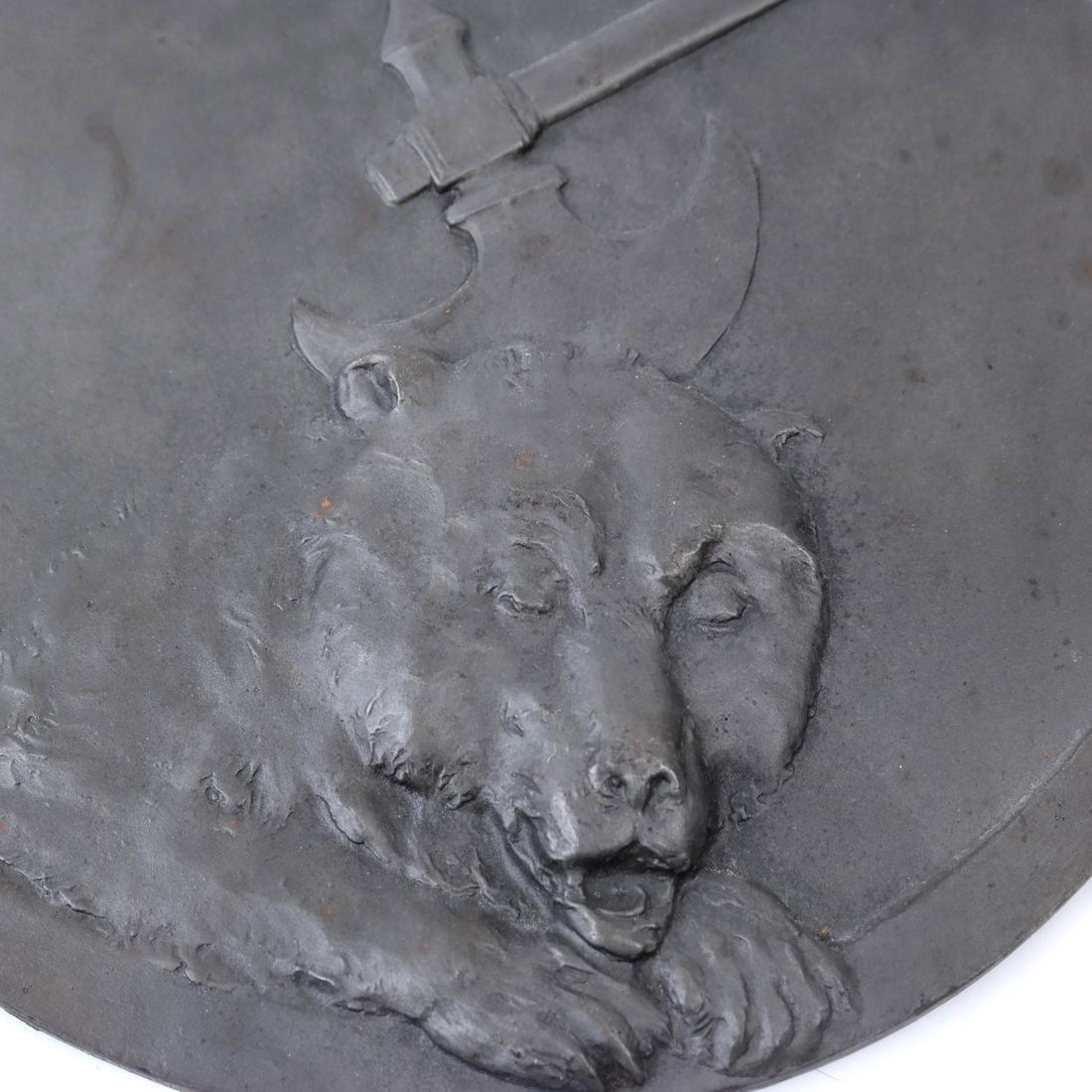 Patinated Bronze Rondel - 2