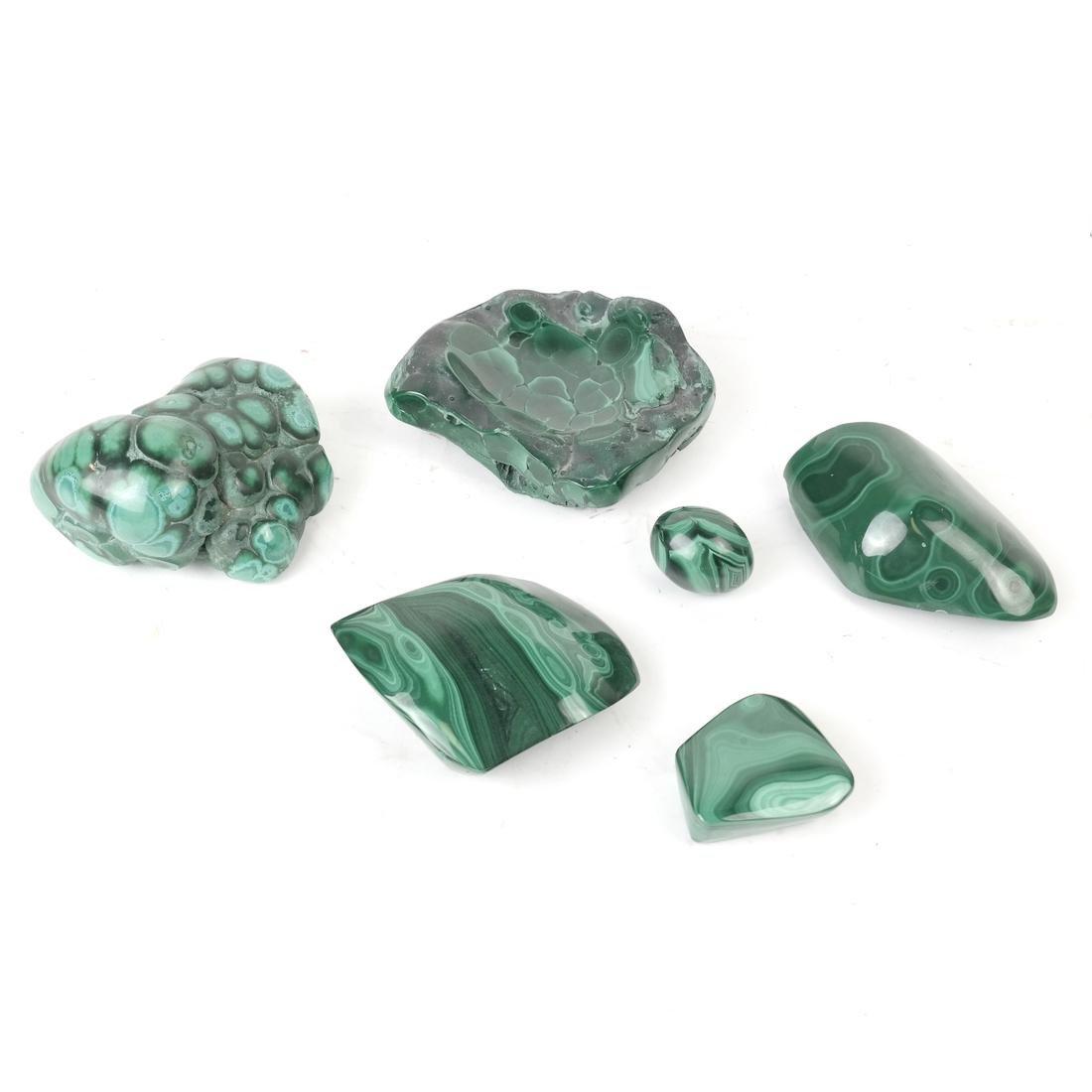 6 Pieces Polished Malachite