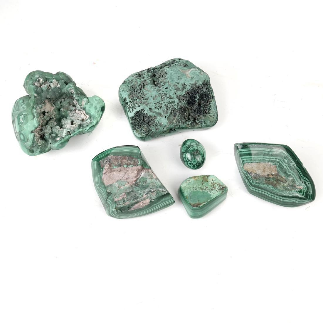 6 Pieces Polished Malachite - 2