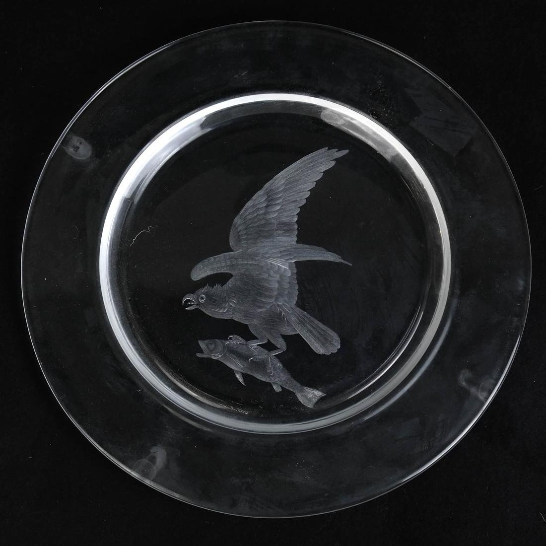 Steuben Glass Plate