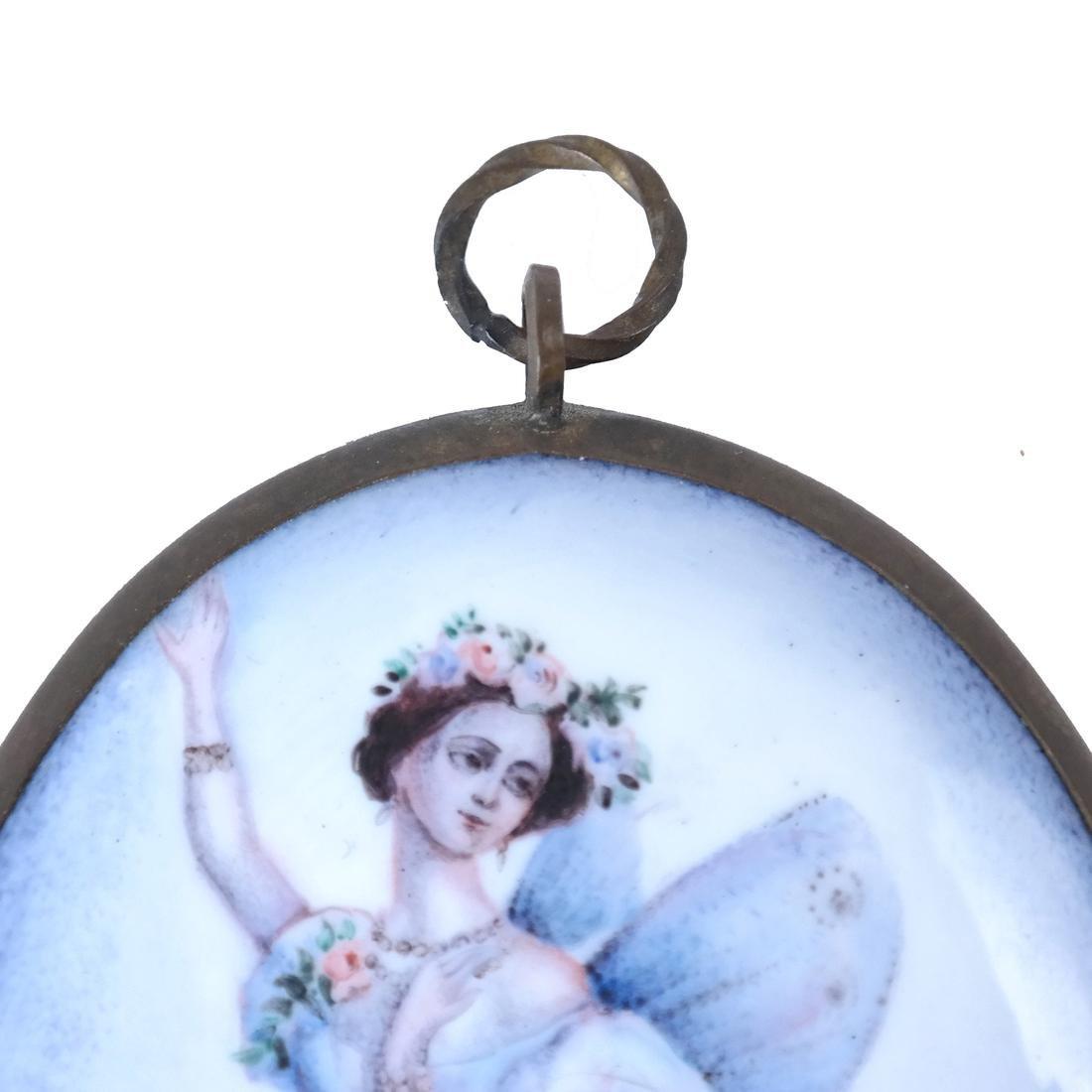 Continental Enameled Ballerina Plaque - 6