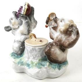 Russian Porcelain Bear Group