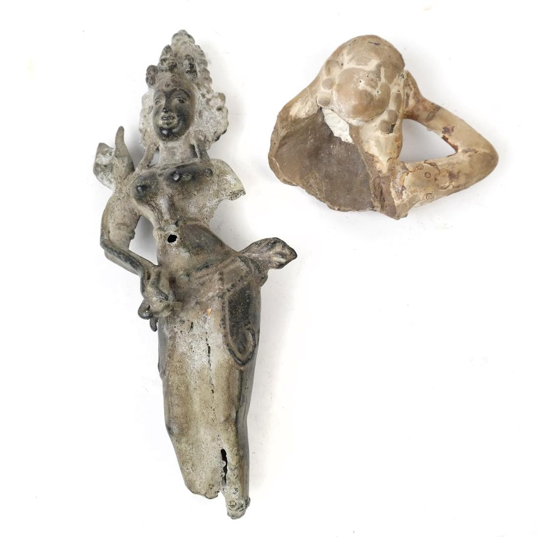 Two Various Deity Figural Shards