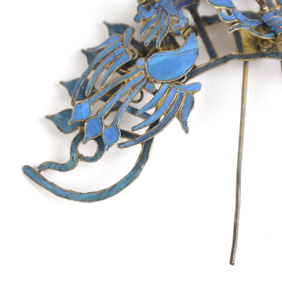 Chinese Kingfisher Hairpin - 3