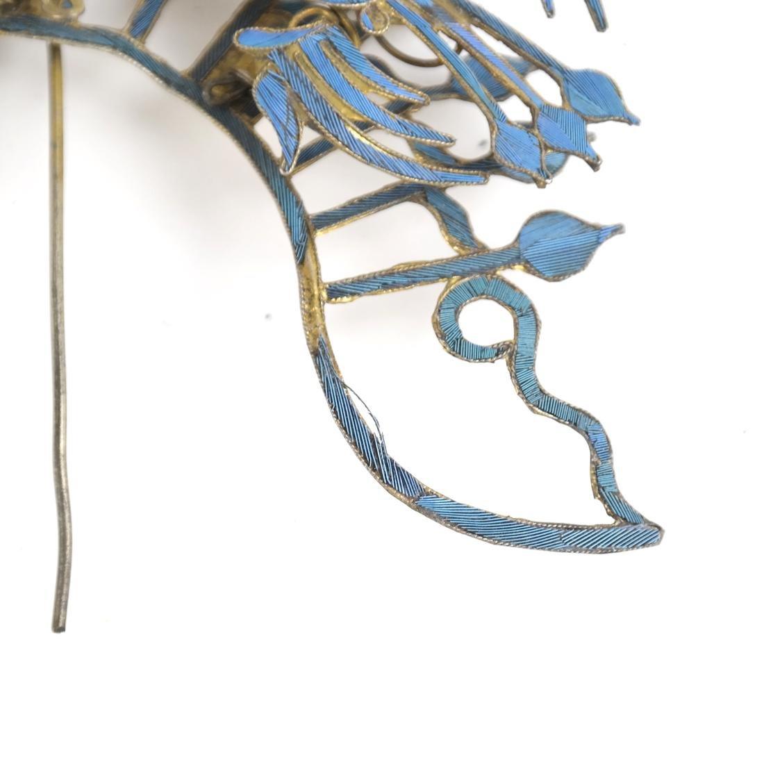 Chinese Kingfisher Hairpin - 4