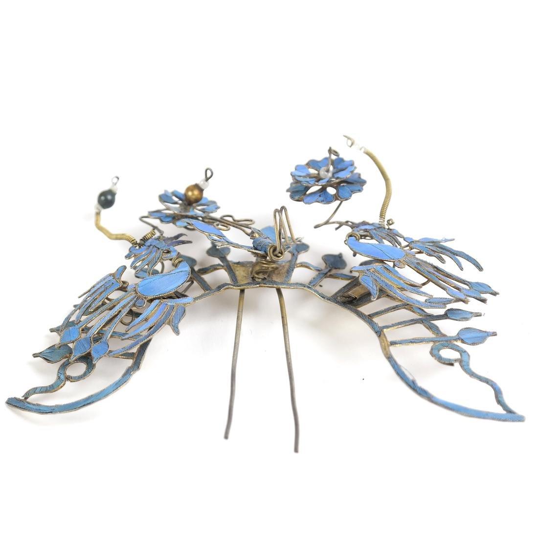 Chinese Kingfisher Hairpin - 5