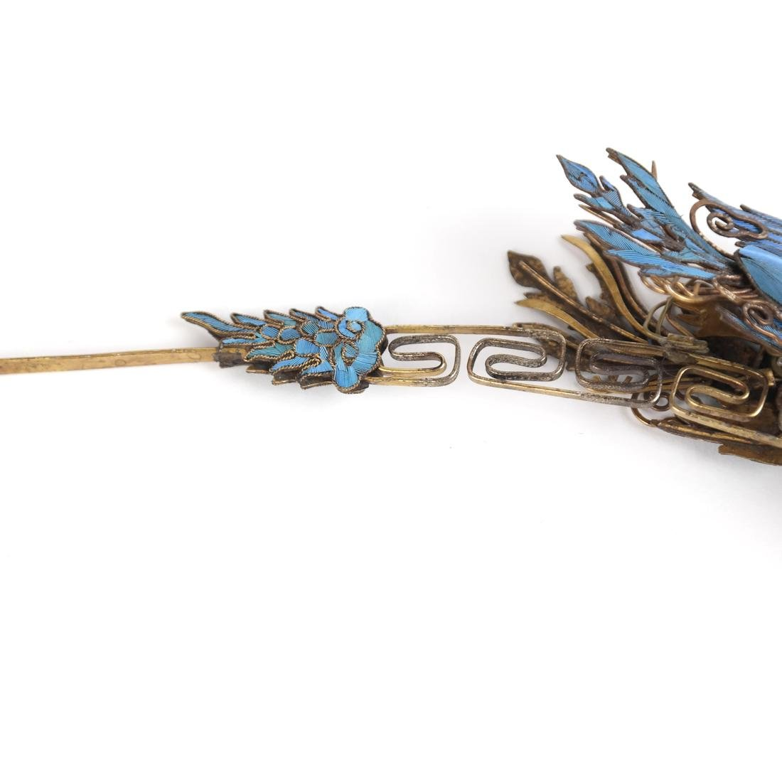 Chinese Kingfisher Hairpin - 5