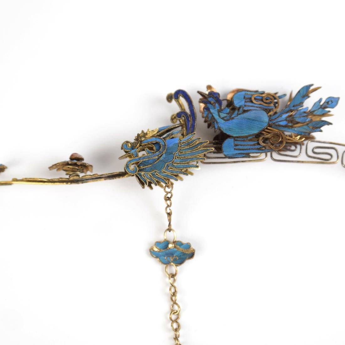 Chinese Kingfisher Hairpin - 6