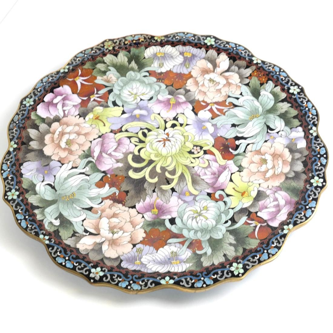 Chinese Cloisonne Charger - 2