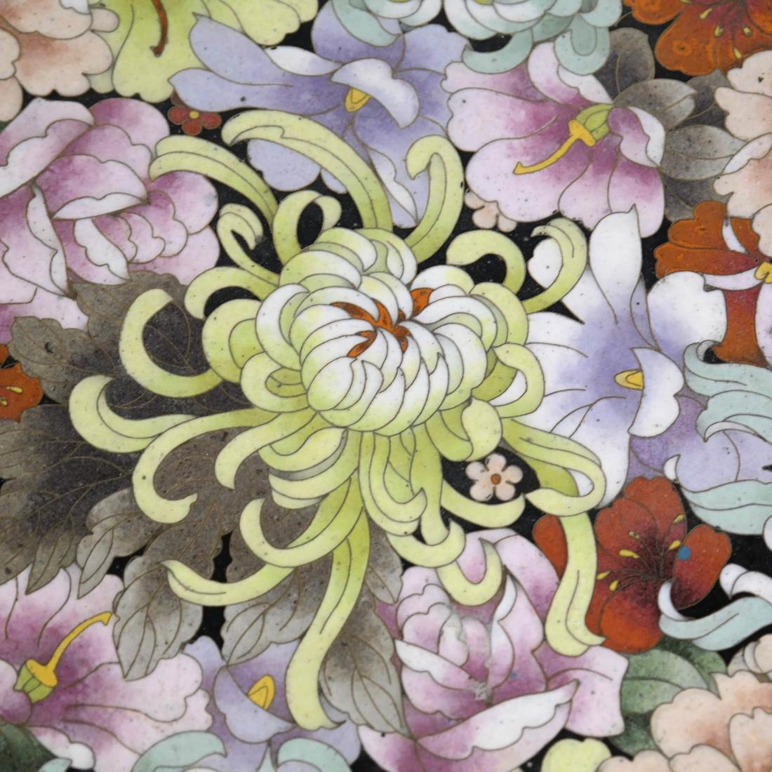 Chinese Cloisonne Charger - 3