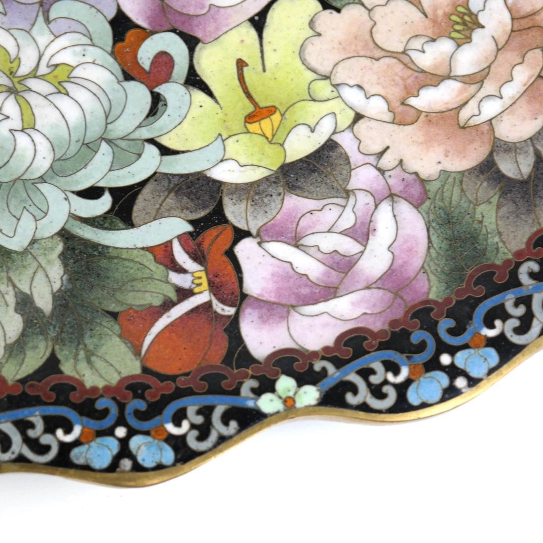 Chinese Cloisonne Charger - 4