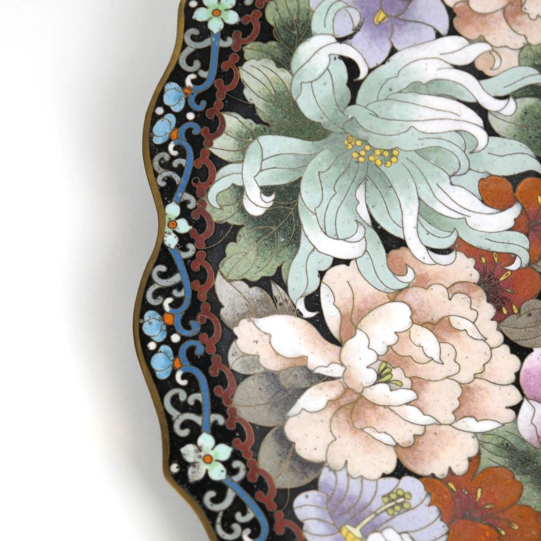 Chinese Cloisonne Charger - 5