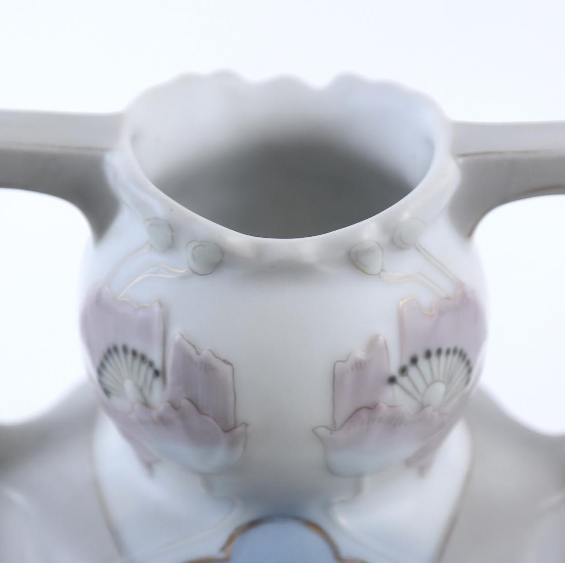 German Art Nouveau 2-Handled Vase - 4