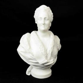 Russian Bisque Porcelain Royal Bust