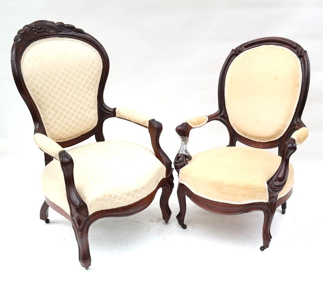 Two Victorian Armchairs