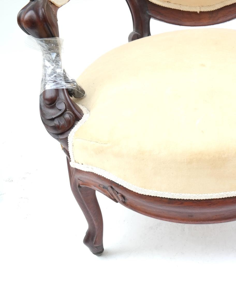 Two Victorian Armchairs - 4