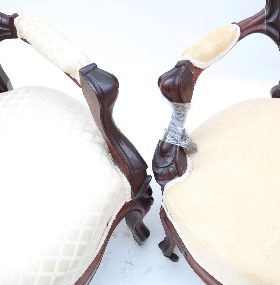 Two Victorian Armchairs - 5