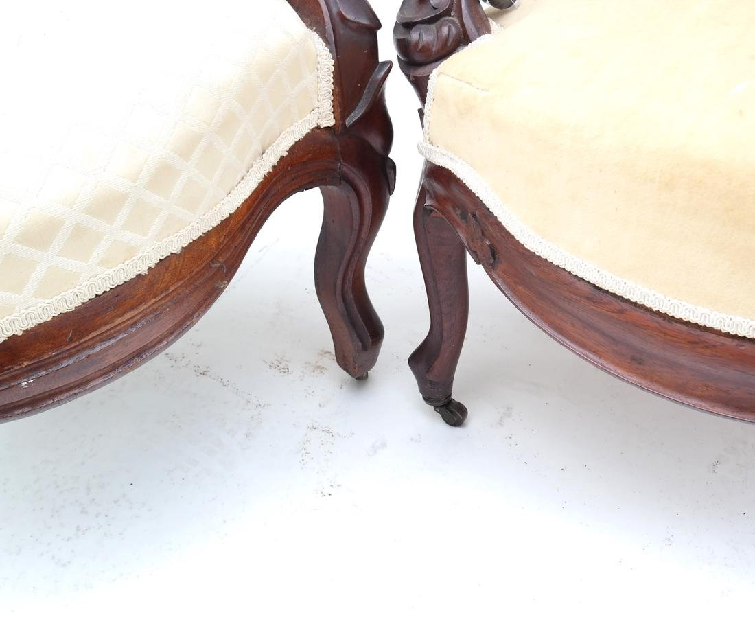 Two Victorian Armchairs - 6
