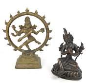 Two Indian Bronze Sculptures