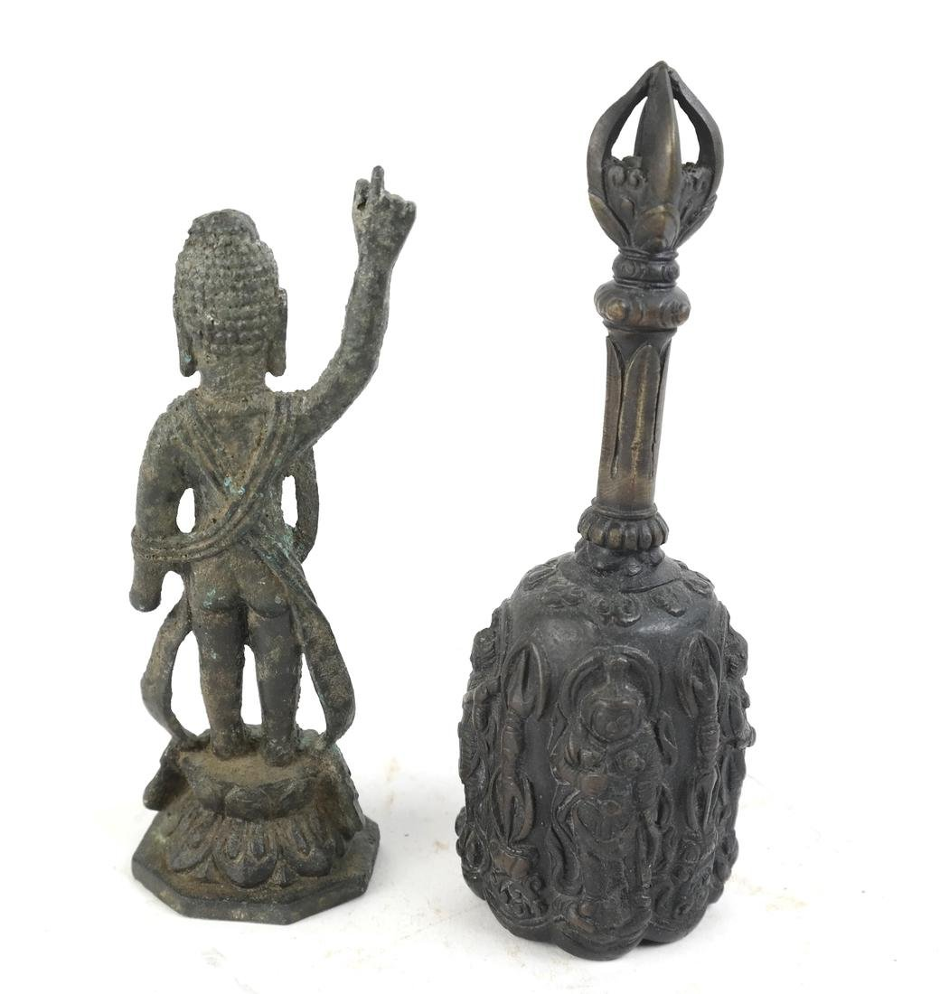 Two Chinese and Korean Bronze Sculptures - 2