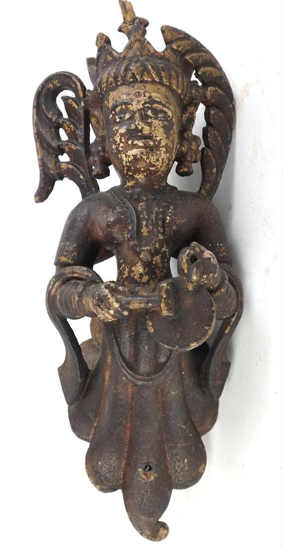 Pair of Tibetan Wood Applique - 6