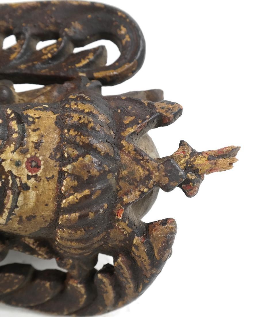 Pair of Tibetan Wood Applique - 9