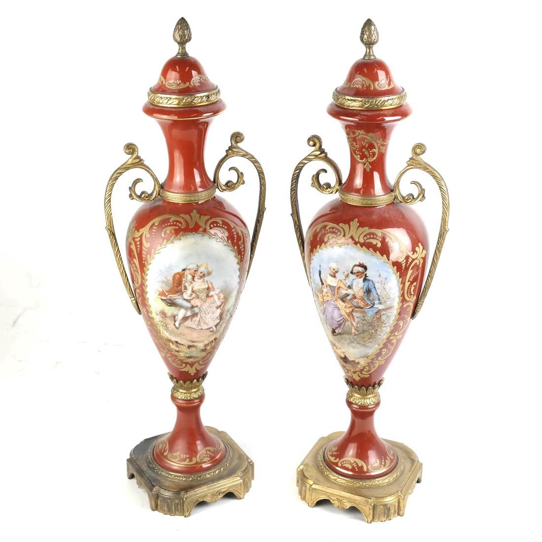 Pair of Serves-Style Lamps