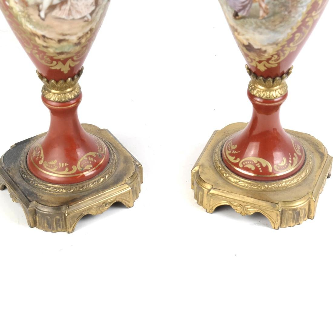 Pair of Serves-Style Lamps - 6