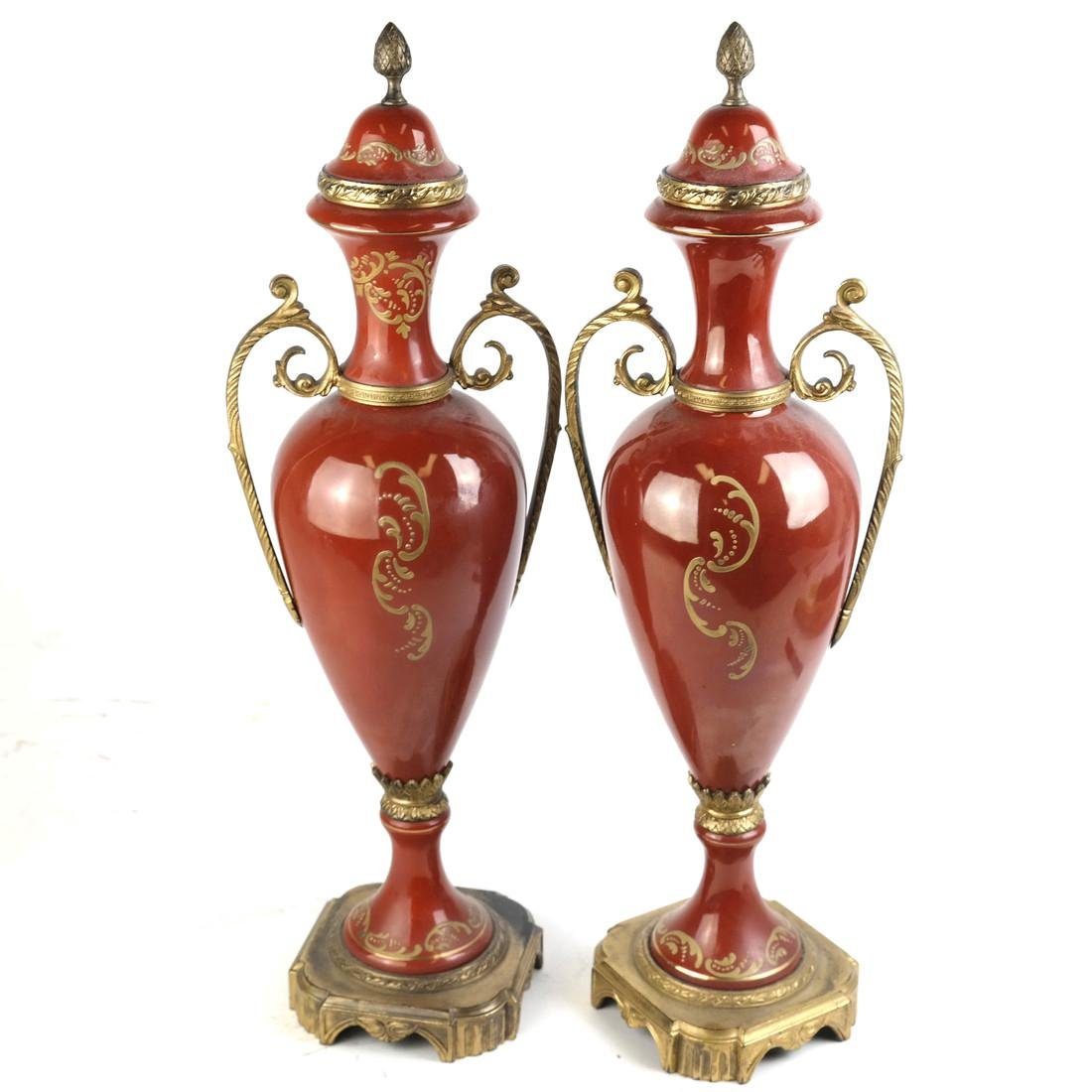 Pair of Serves-Style Lamps - 7