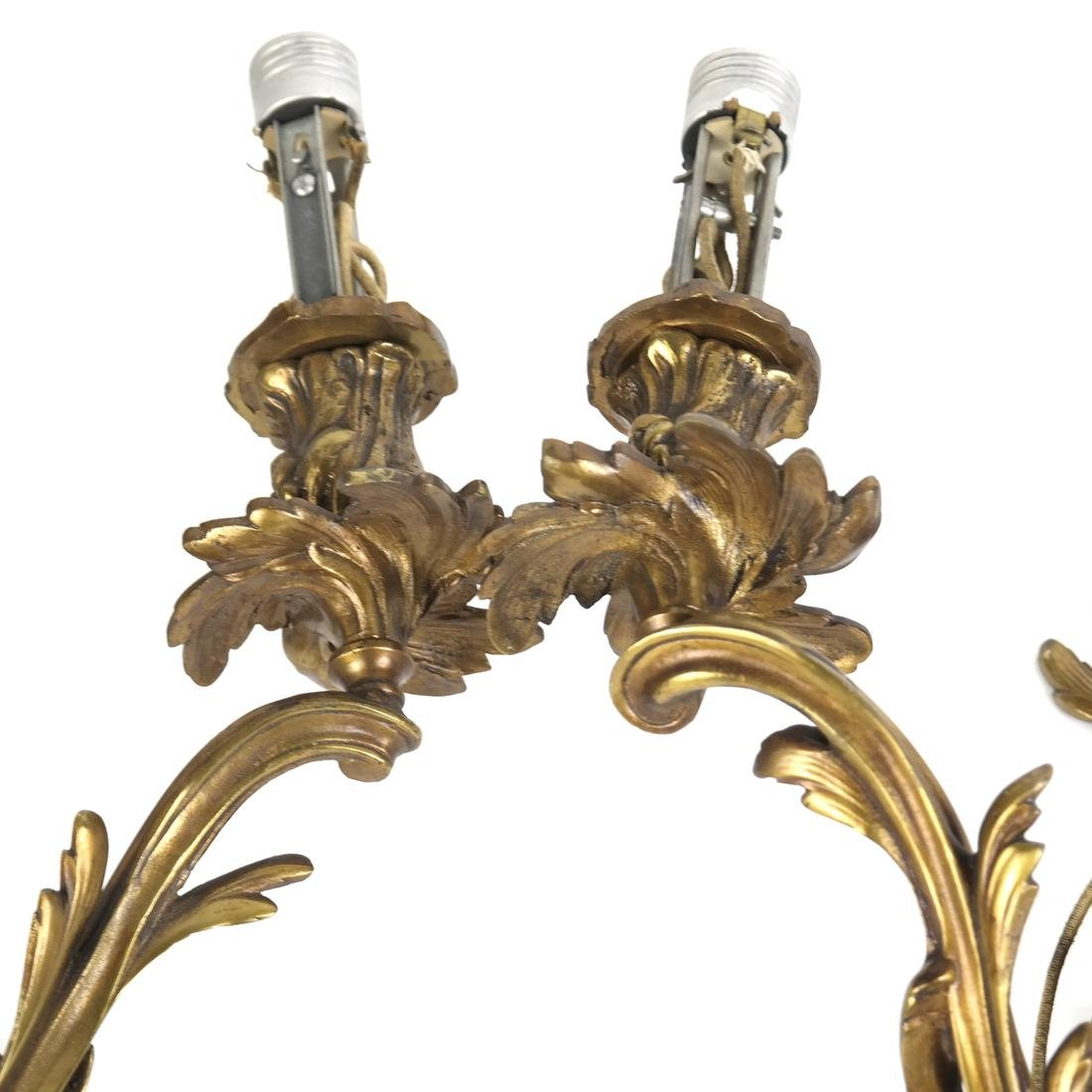 Pair of Bronze Sconces - 2