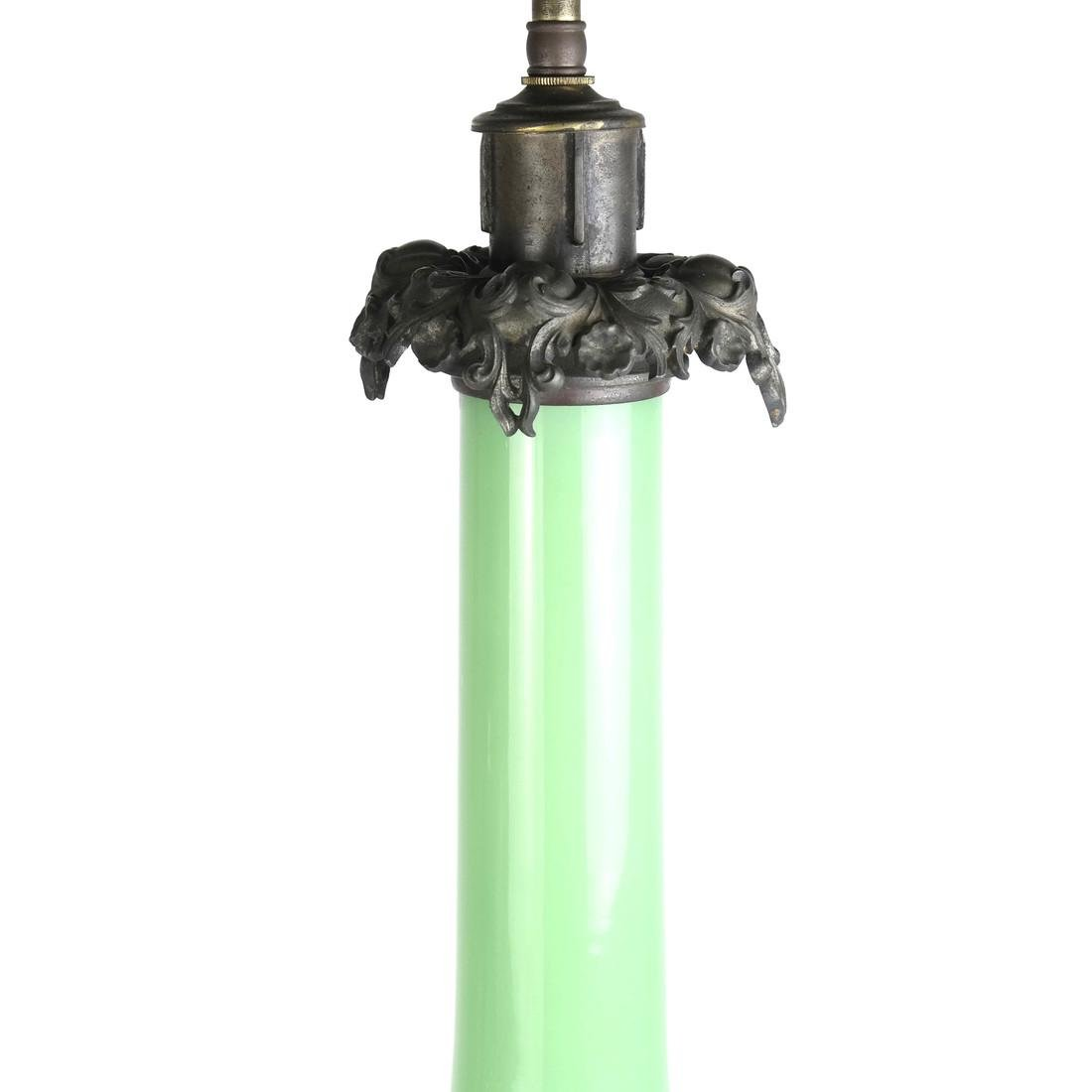 Green Opaline Lamp - 3