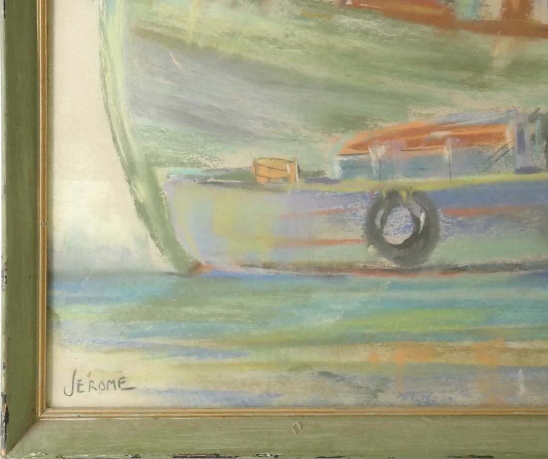 Pierre Jerome, Two Ships, Pastel - 3
