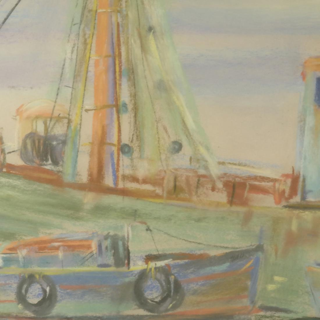 Pierre Jerome, Two Ships, Pastel - 4