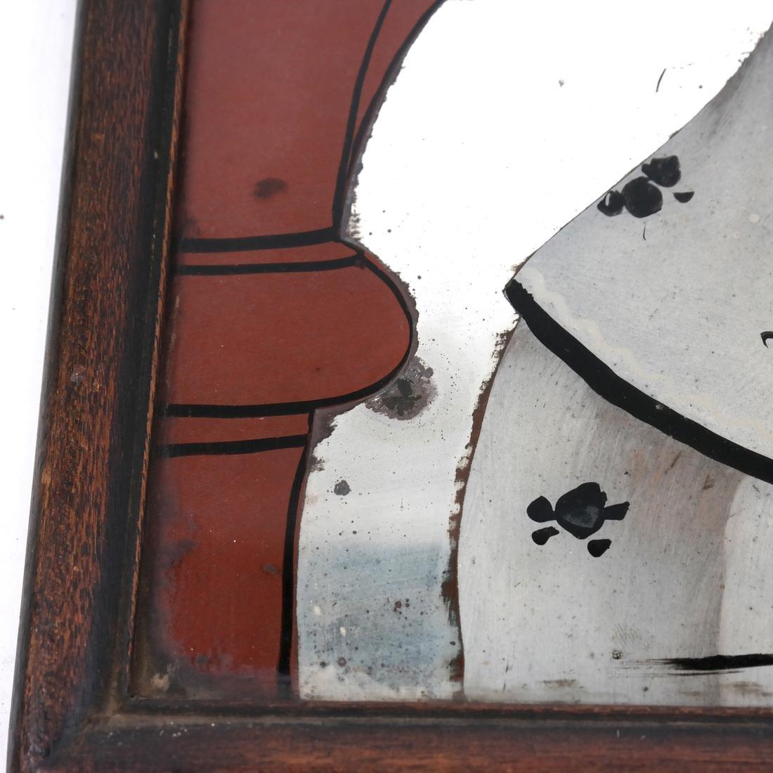 Three Chinese Reverse Glass Paintings - 8