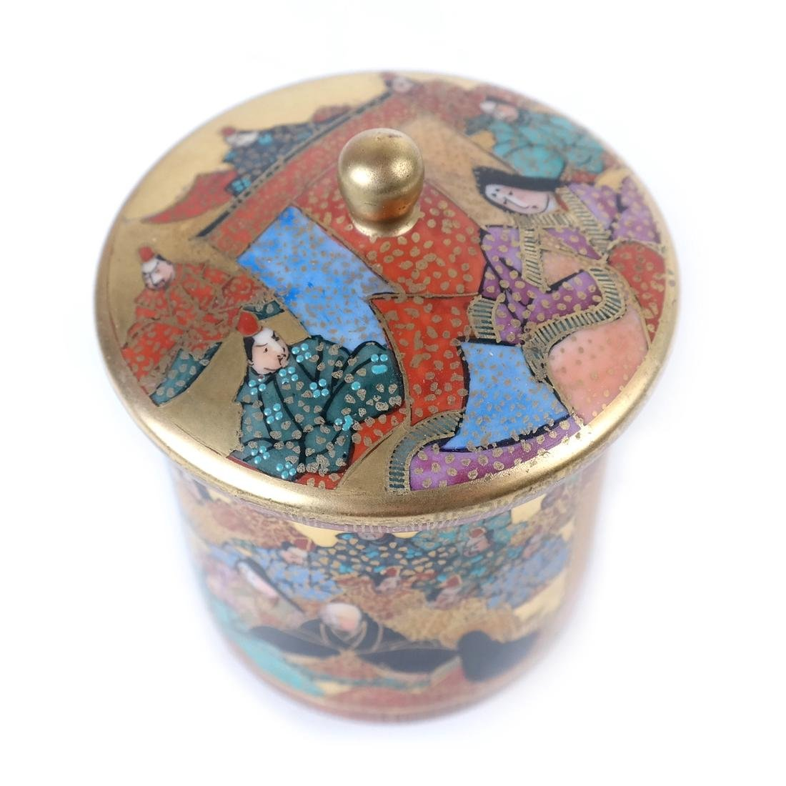 Japanese Kutami Porcelain Covered Cup - 3