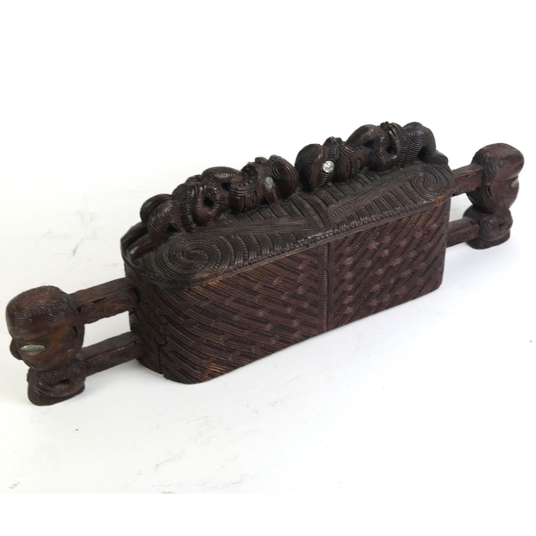 Maori Carved Hardwood Box