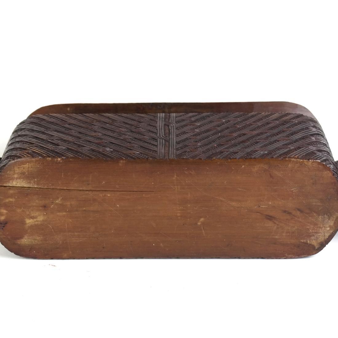 Maori Carved Hardwood Box - 7